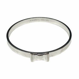 Kate Spade Silver Tone Bangle Bracelet Take A Bow